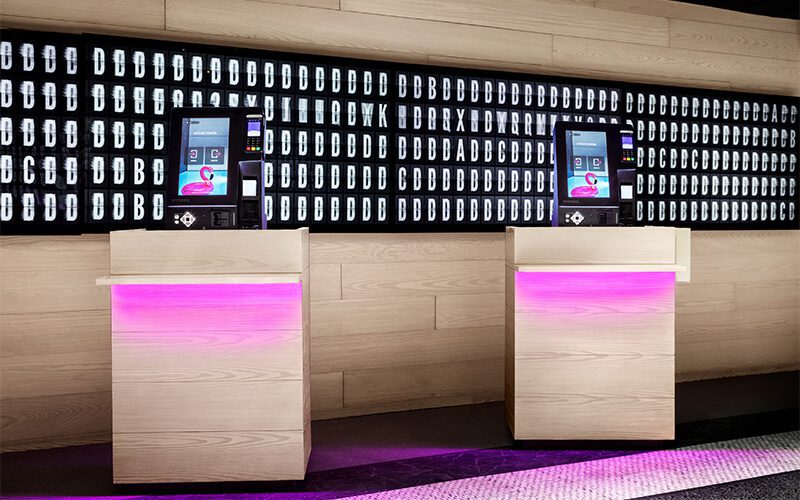 Mariott hotels contactless check in kiosks