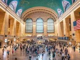 people in grand central station interior