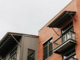 A commercial property financed by a bridge loan or HELOC