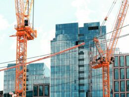 A commercial property construction site