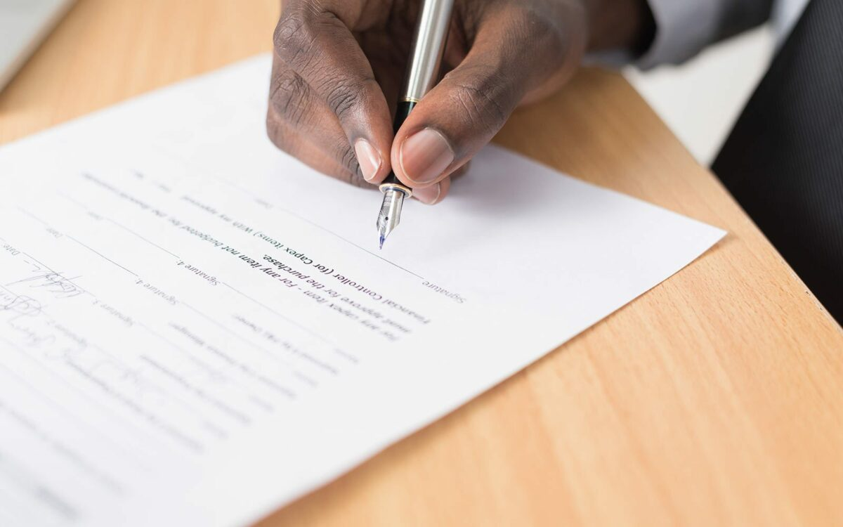 A Unilateral contract is drawn up.