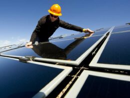 Solar panels are installed the help of C-PACE financing.