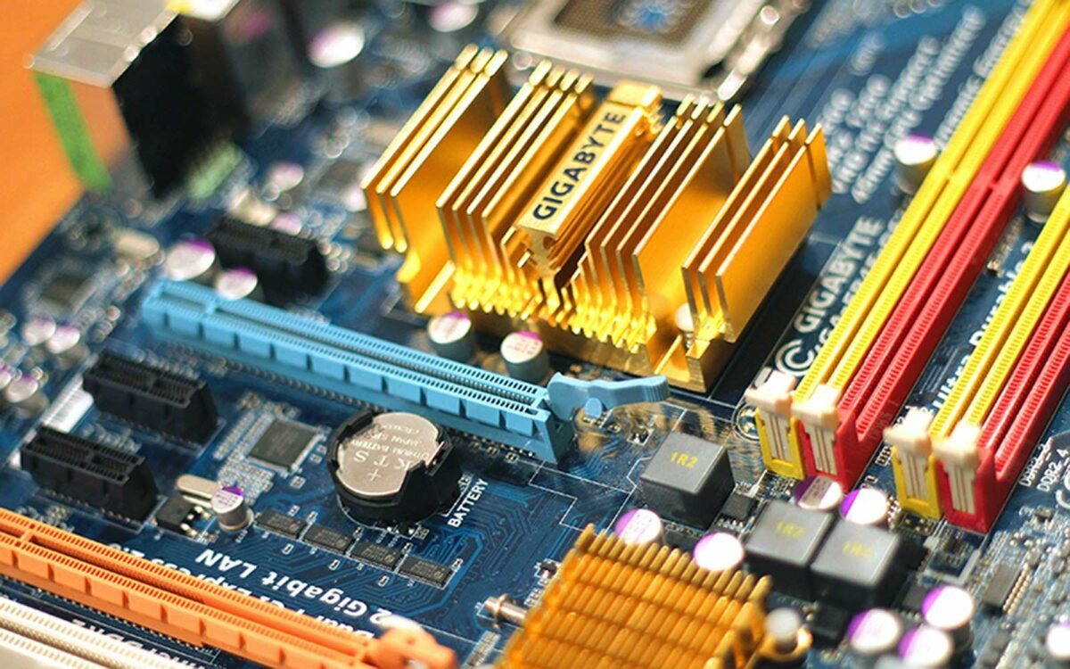 A circuit board, up close and personal.