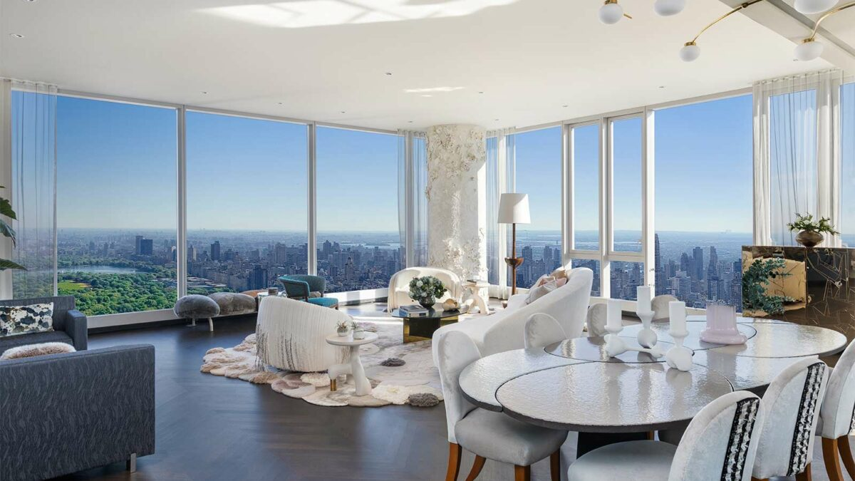 A suite in the Central Park Tower