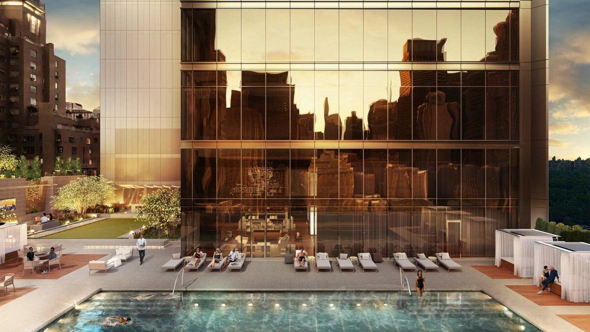 The pool at the Central Park Tower