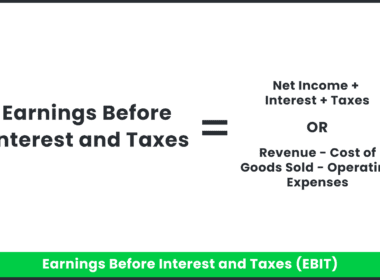 The equation for earnings before interests and taxes.