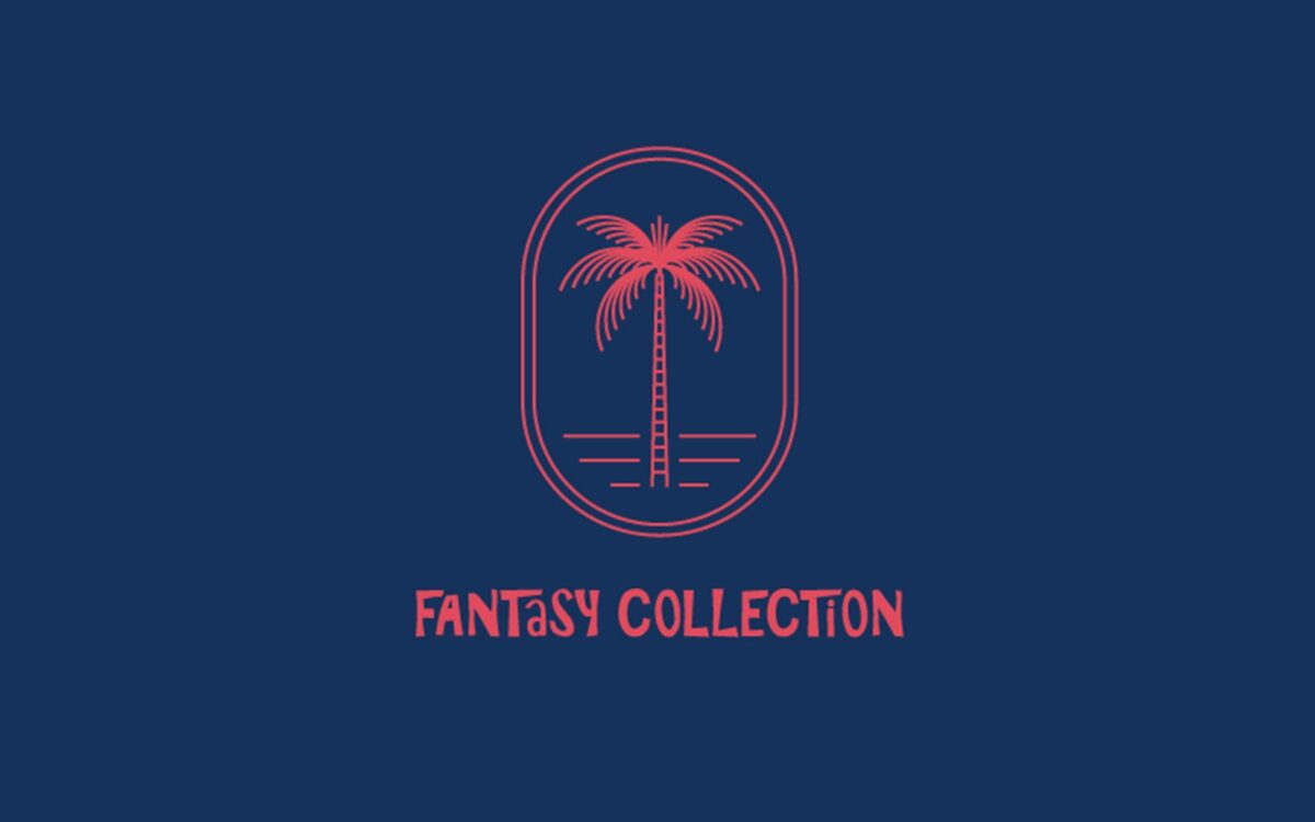 The Fantasy Collection logo sits against a blue background.